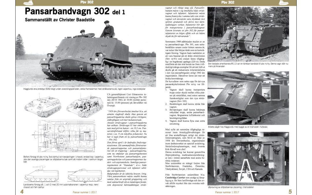 Första delen i artikelserien om Pbv 302 publicerad
