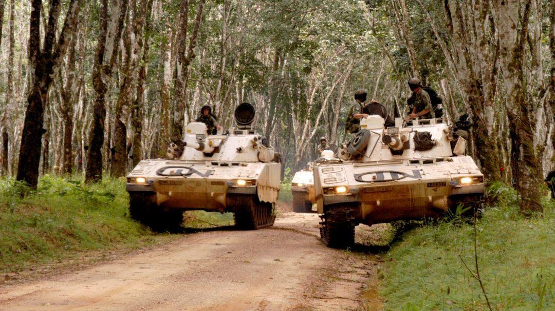 Strf 9040B1 i Liberia, Foto: Therese Holmberg/Försvarsmakten