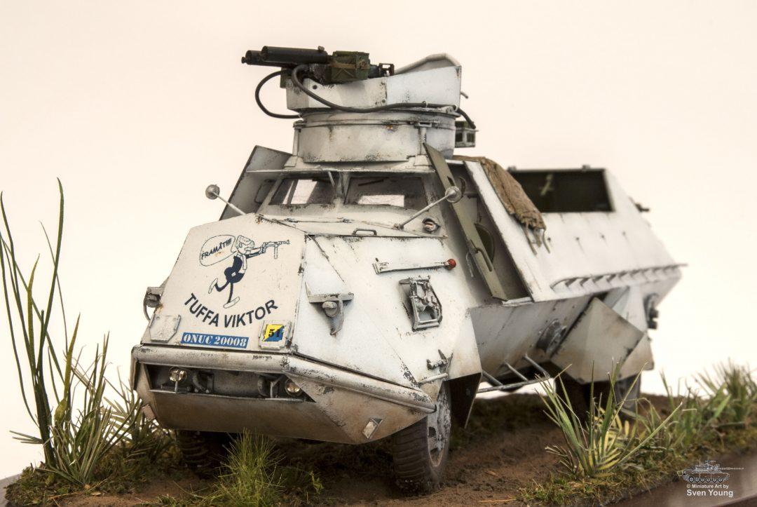 Sven Young berättar om Att bygga svenskt FN-pansar i modell