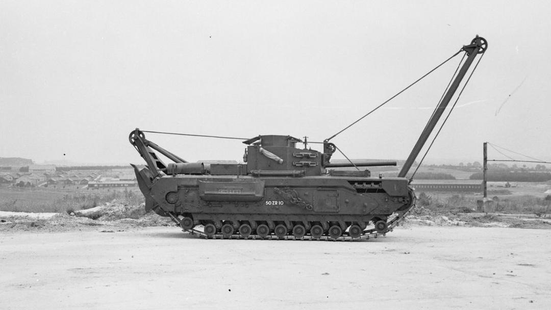 Churchill ARV Mk II (EJ SVENSK VAGN!) Foto: Imperial War Museum, UK