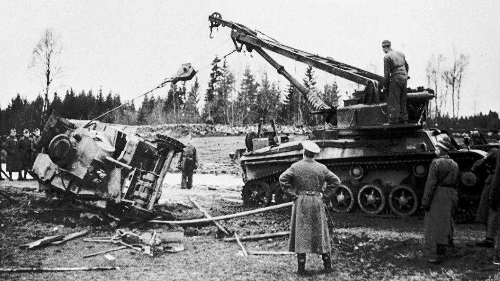 Bbv m/43 med nedsänkt spännhjul. Foto: S Mellgren