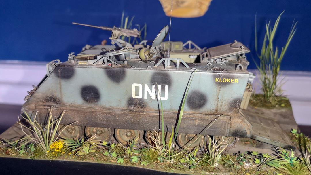 M 113 i svensk FN-tjänst, modell byggd av Sven Young