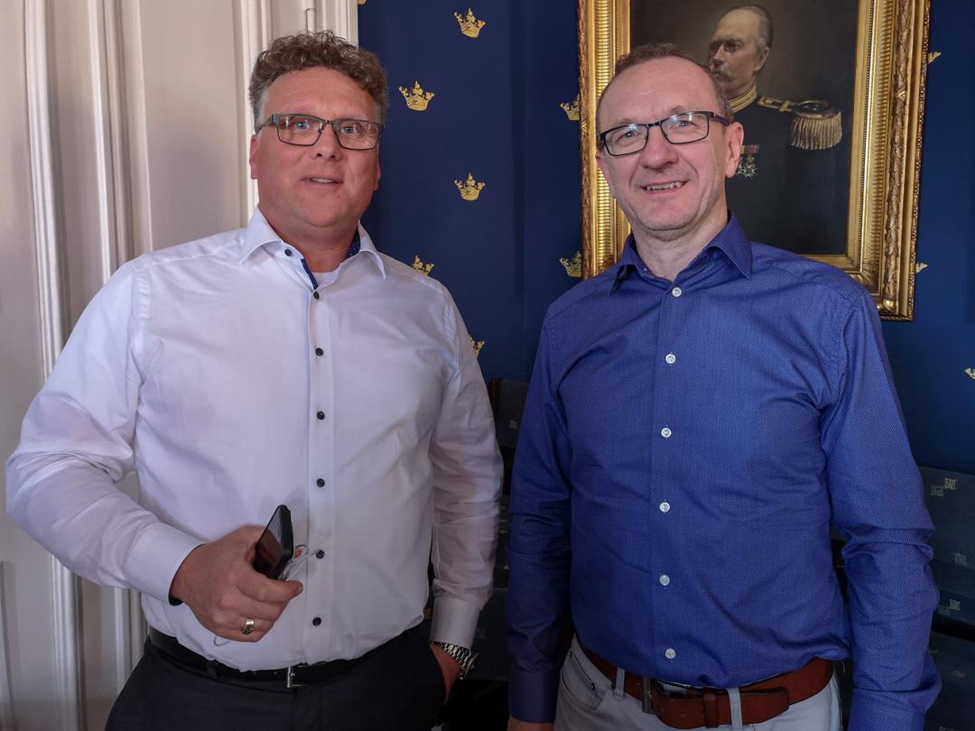 Stig-Inge och Sven höll mycket uppskattade presentationer. Foto: Thorleif Olsson