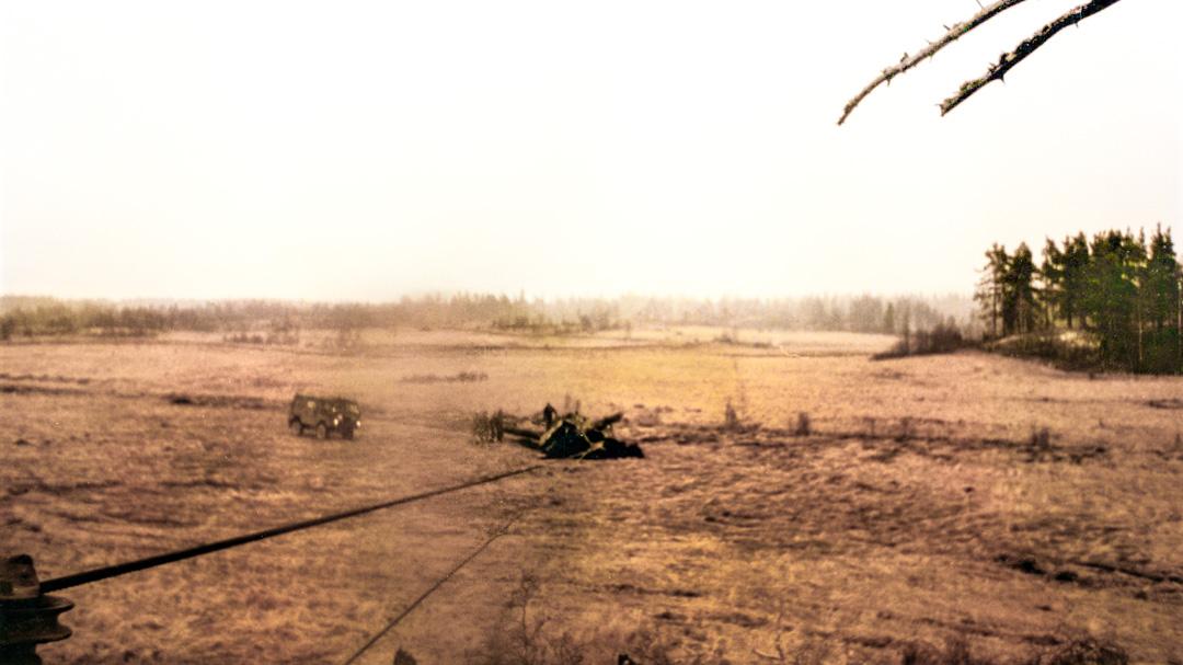 Bärgning av Strv 104 i Hojgard myr på Gotland