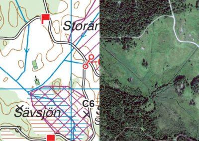 Bärgningen på Storängen, karta och satellitbild