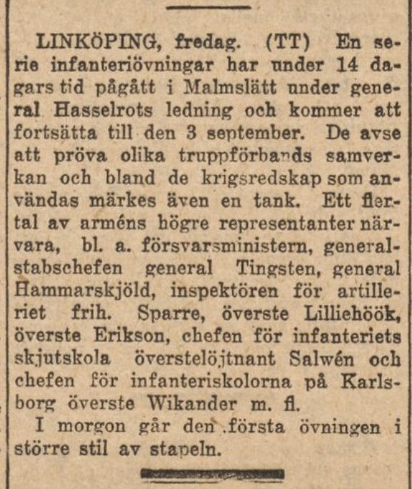 Dagens Nyheter 27 juli 1921