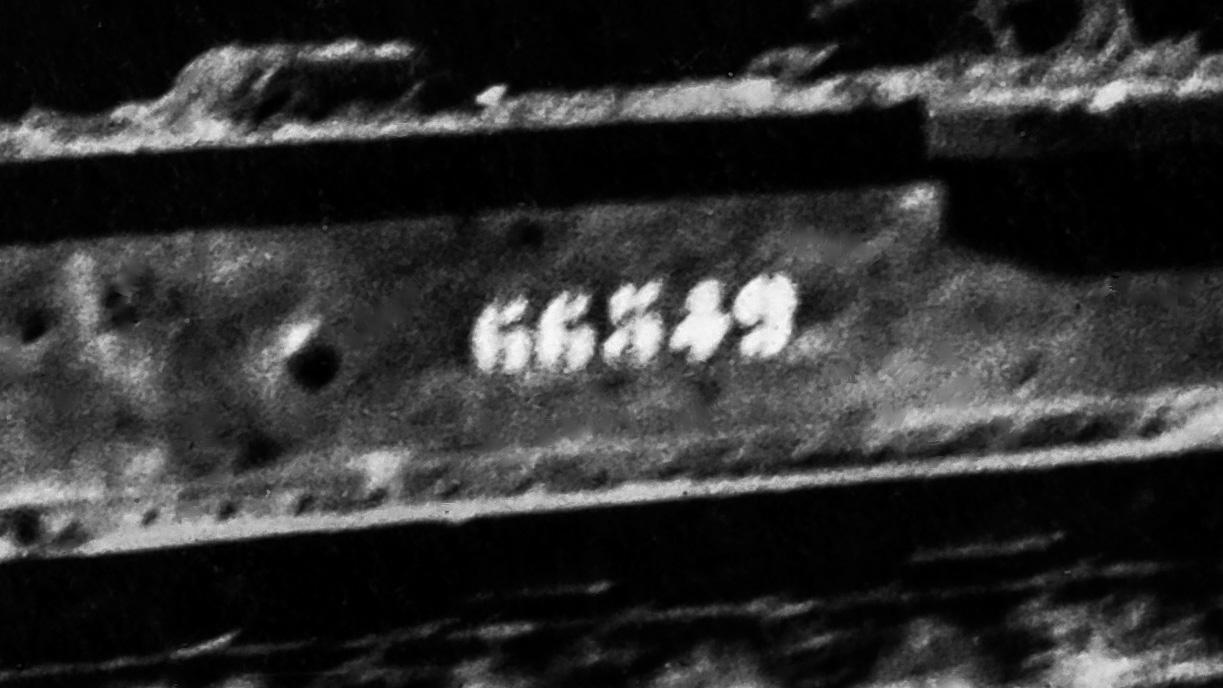 Märkning 66549 på Renault FT-vagnen
