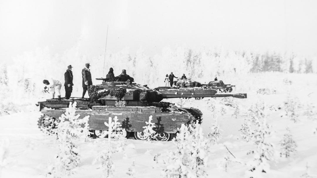 Centurion under vinterförsök i Norrland. Källa: Krigsarkivet