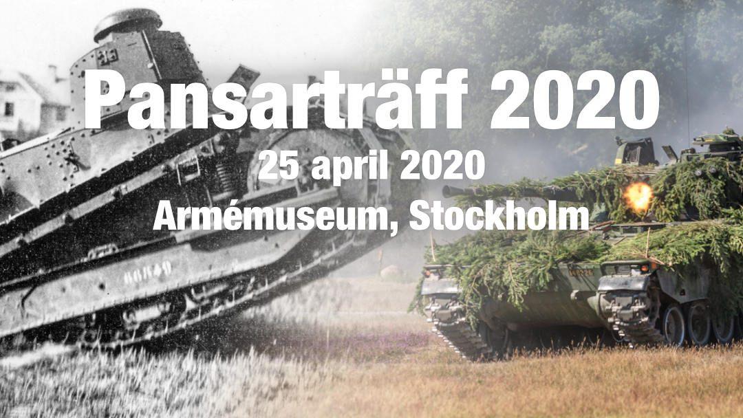 Pansarträff 2020 – notera datum 25 april 2020!