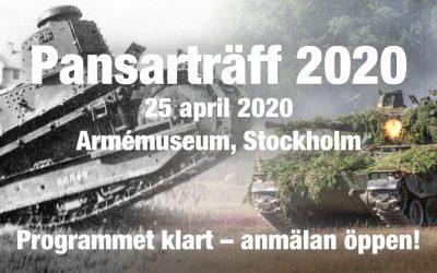 Pansarträff 2020 – anmälan är öppen!