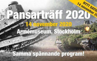 Nytt preliminärt datum för Pansarträff 2020